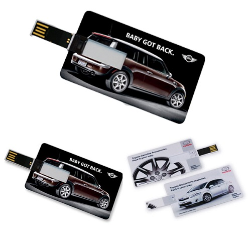 Business card size usb flash drive reheart